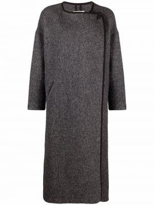 Серое пальто длинное Isabel Marant étoile