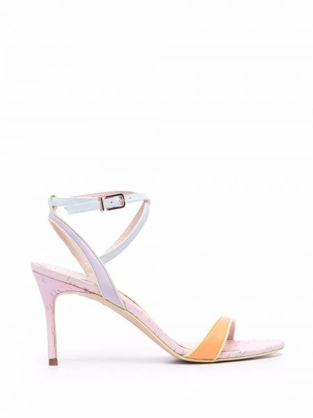 Оранжевые босоножки на высоком каблуке Sophia Webster