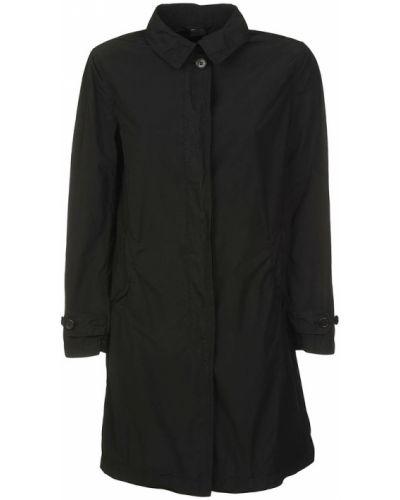 Czarny płaszcz oversize Aspesi