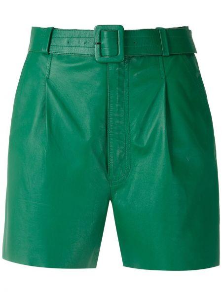 Зеленые кожаные шорты Nk