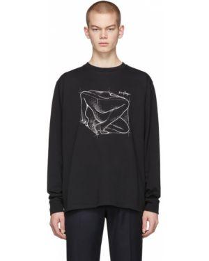 Черная рубашка с воротником с манжетами с длинными рукавами Second/layer