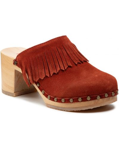 Brązowe sandały zamszowe Berkemann
