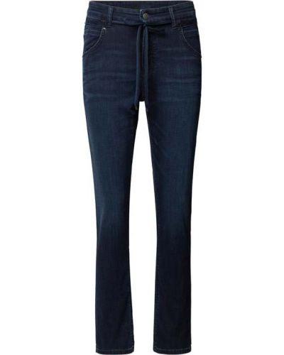 Niebieskie mom jeans bawełniane Cambio