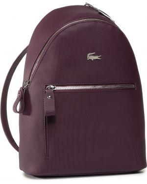 Fioletowy plecak Lacoste