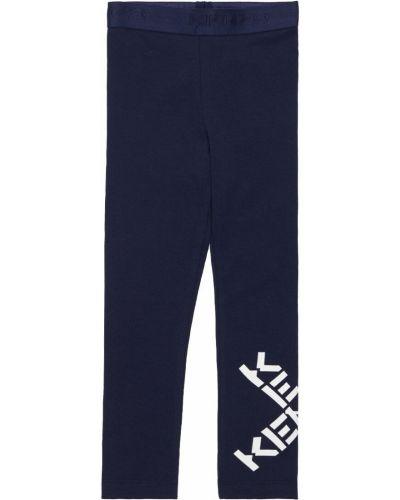 Хлопковые леггинсы - синие Kenzo Kids