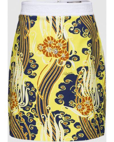 Юбка мини - желтая Roberto Cavalli