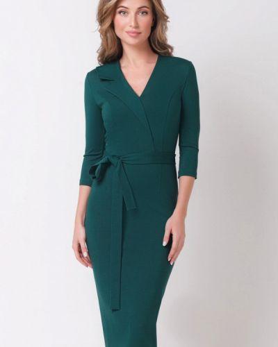Платье осеннее зеленый Olga Skazkina