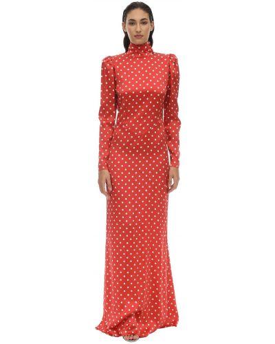 Платье в горошек на пуговицах Alessandra Rich