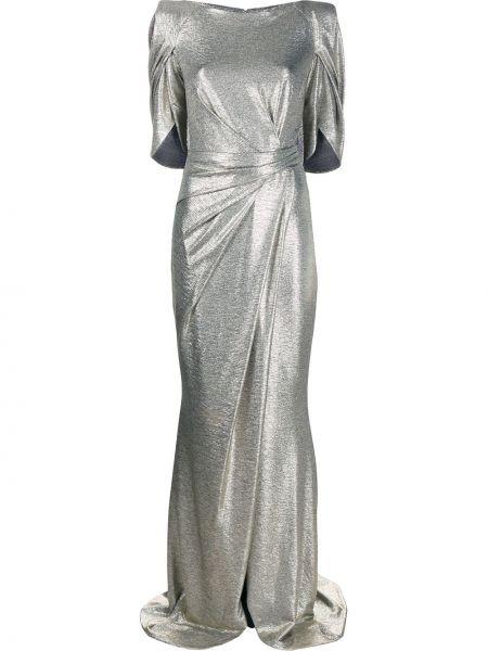 Платье мини атласное - желтое Talbot Runhof