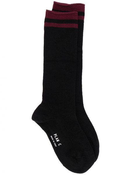Черные хлопковые носки эластичные Plan C