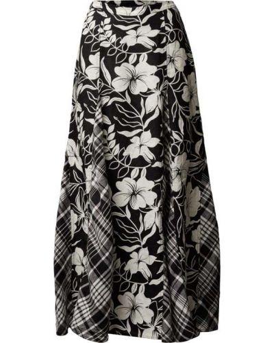 Czarna długa spódnica w kratę Polo Ralph Lauren