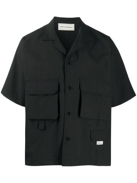 Czarna koszula wełniana Drole De Monsieur