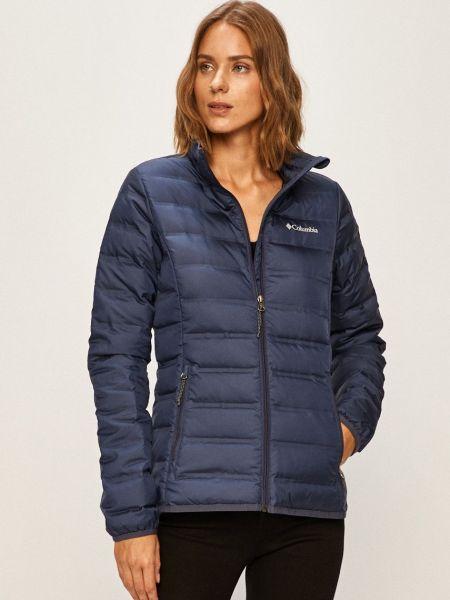 Пуховая синяя куртка с воротником Columbia