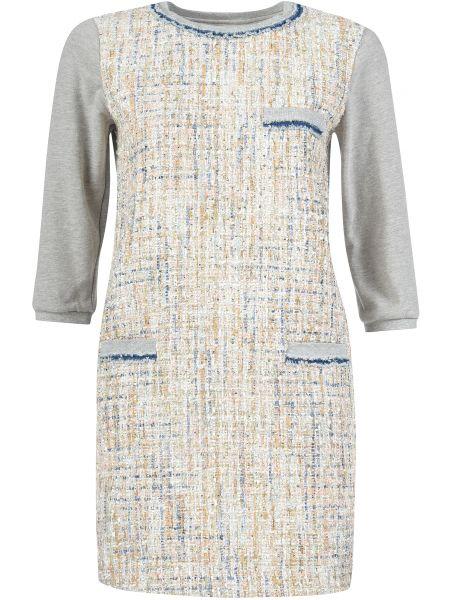 Хлопковое платье - серое Twin-set