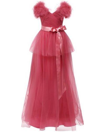 Розовое платье с подкладкой Jenny Packham