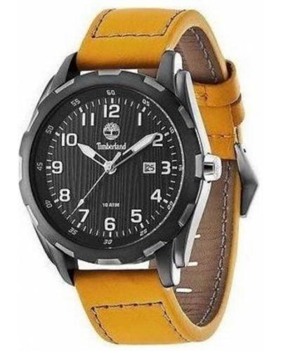 Szary zegarek na skórzanym pasku skórzany kwarc Timberland