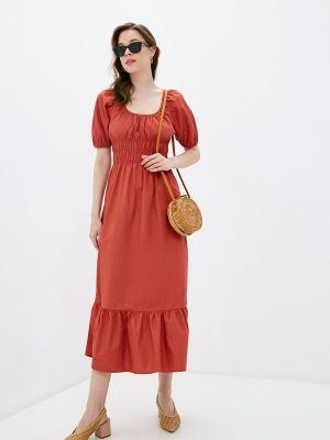 Прямое красное платье А-силуэта Compania Fantastica