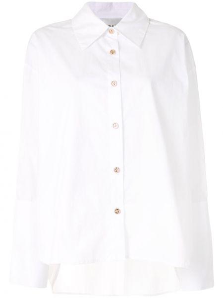 Белая классическая рубашка с воротником оверсайз на пуговицах Edward Achour Paris