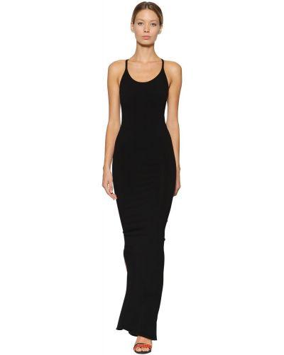 Открытое черное платье макси с открытой спиной Dsquared2