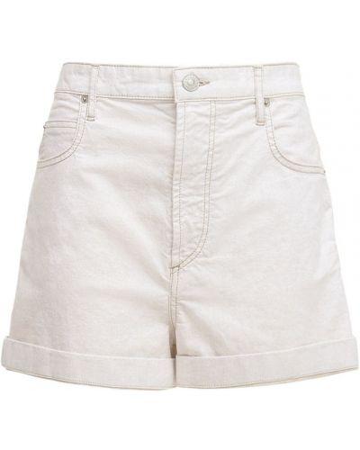 Бежевые джинсовые шорты с карманами Isabel Marant étoile
