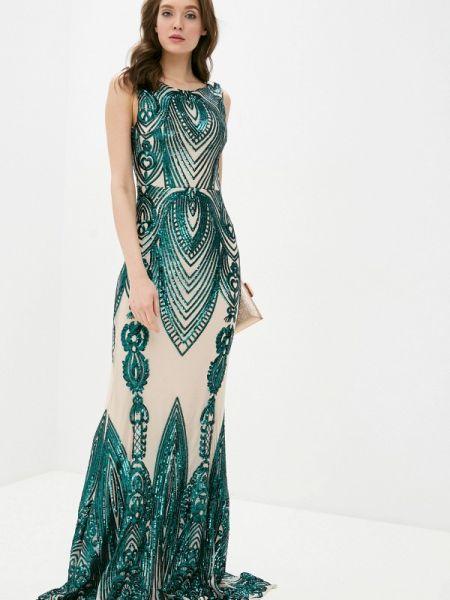 Вечернее платье зеленый весеннее Soky & Soka