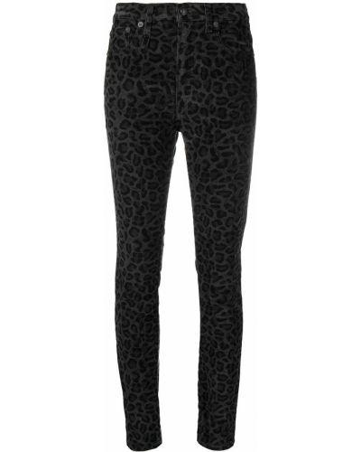 Хлопковые облегающие черные джинсы-скинни R13