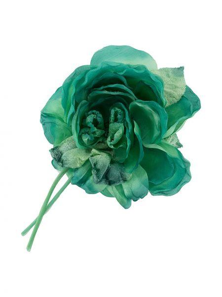 Broszka ze srebra zielony z kwiatowym nadrukiem Alessandra Rich
