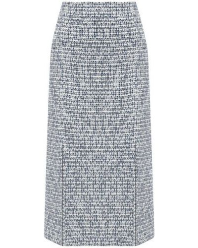 Серая кашемировая юбка St. John