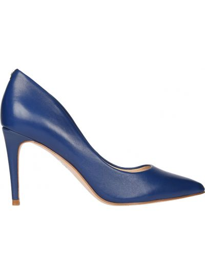 Туфли на каблуке кожаные синий Guess