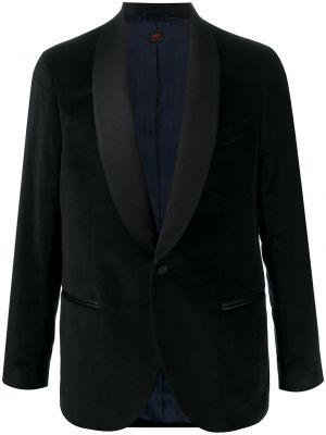 Czarna długa kurtka bawełniana z długimi rękawami Mp Massimo Piombo