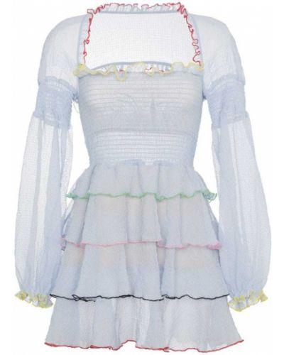 Платье мини с оборками из полиэстера Sandy Liang