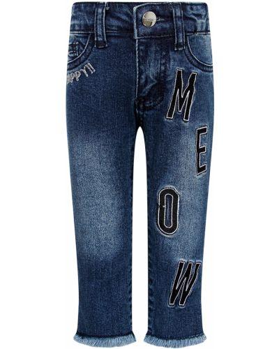 Хлопковые синие джинсы Byblos