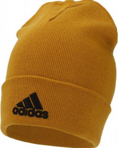 Шапка с отворотом - желтая Adidas