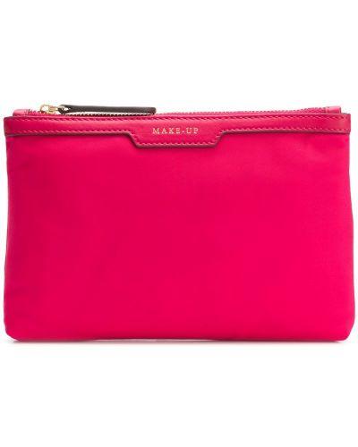 Косметичка кожаная розовый Anya Hindmarch