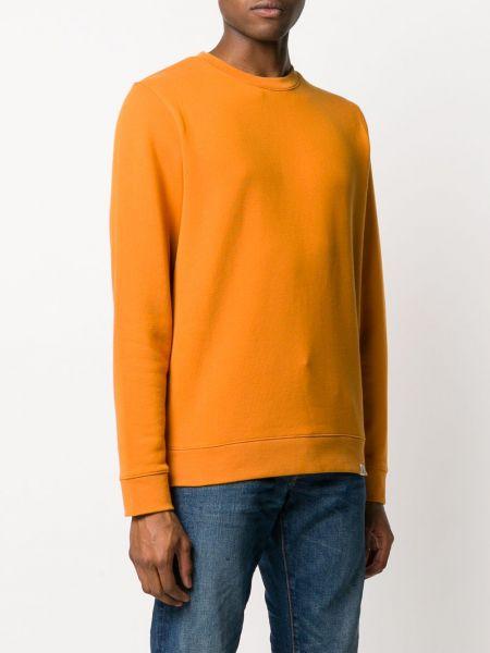 Z rękawami pomarańczowy bluza z mankietami z łatami Norse Projects