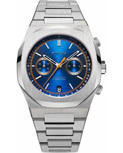 Кварцевые часы - синие D1 Milano