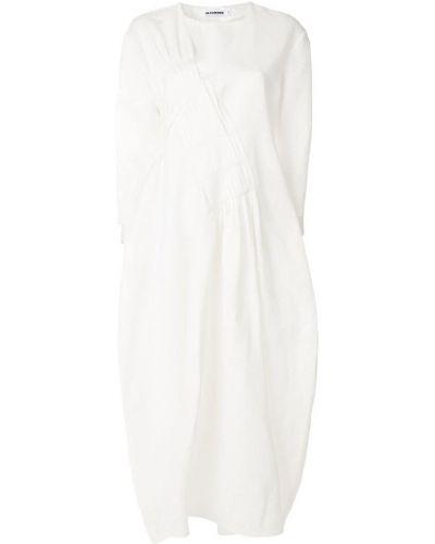 Платье с V-образным вырезом платье-солнце Jil Sander