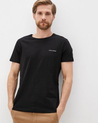 С рукавами черная футболка Felix Hardy