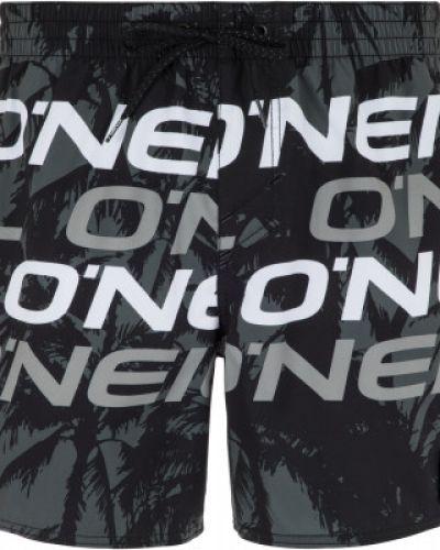 Пляжные шорты черные с логотипом O`neill