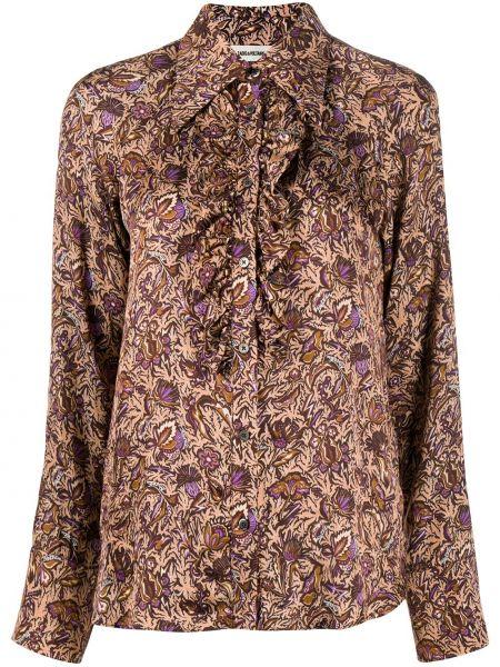 Классическая рубашка с воротником с вышивкой с манжетами на пуговицах Zadig&voltaire