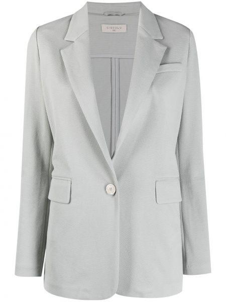 Однобортный серый удлиненный пиджак на пуговицах Circolo 1901