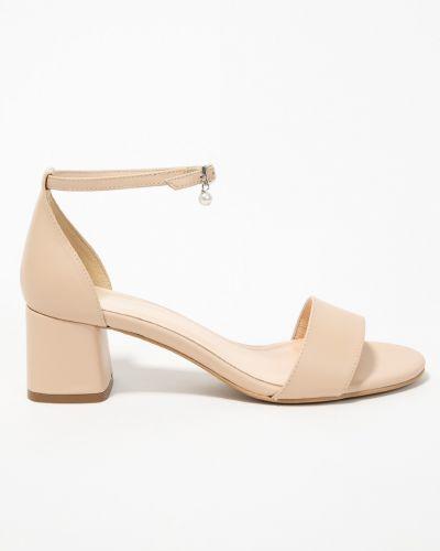 Туфли на каблуке кожаные розовый Wojas