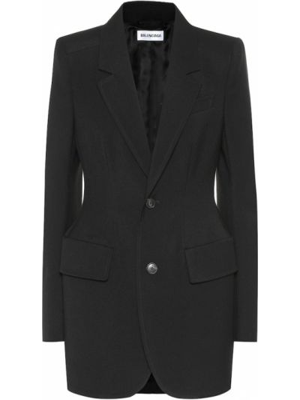 Классический пиджак черный шерстяной Balenciaga
