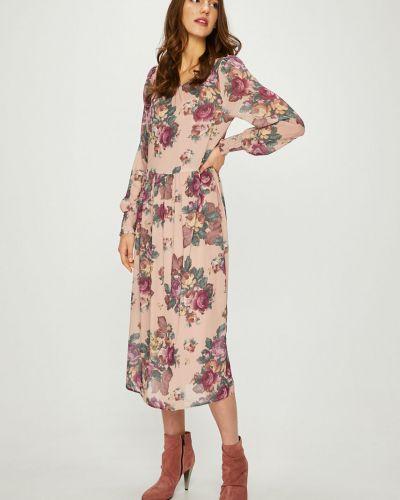 Платье макси с длинными рукавами с вырезом Vero Moda