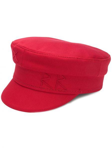 Красная хлопковая кепка с вышивкой Ruslan Baginskiy