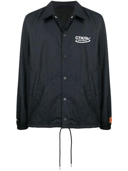 Klasyczna czarna klasyczna koszula z raglanowymi rękawami Heron Preston
