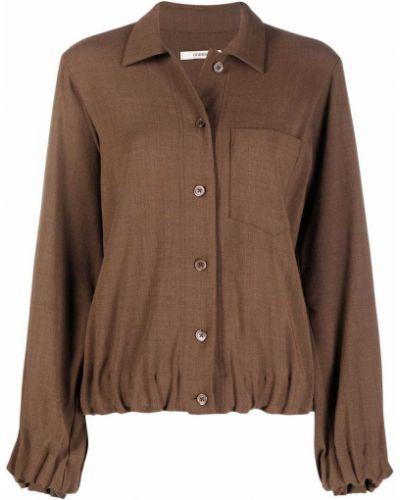 Шерстяная рубашка - коричневая Odeeh