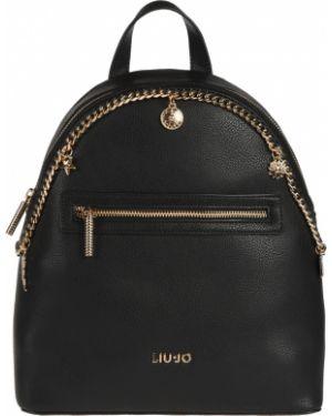 Кожаный рюкзак - черный Liu Jo