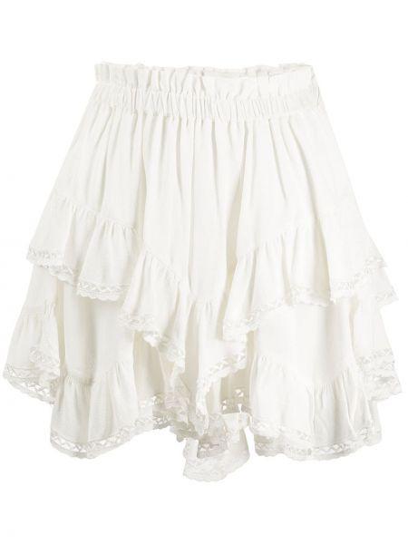 Spódnica mini na gumce biała Isabel Marant