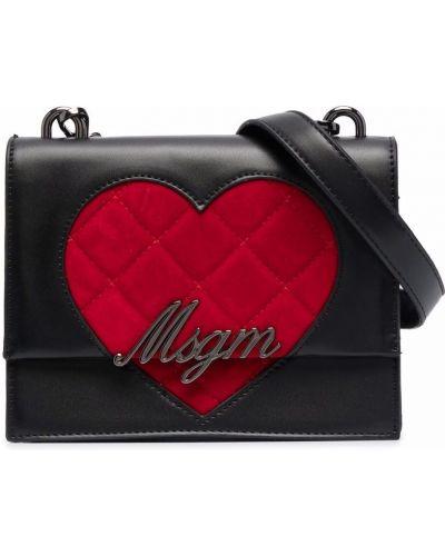 Czarna torebka pikowana Msgm Kids